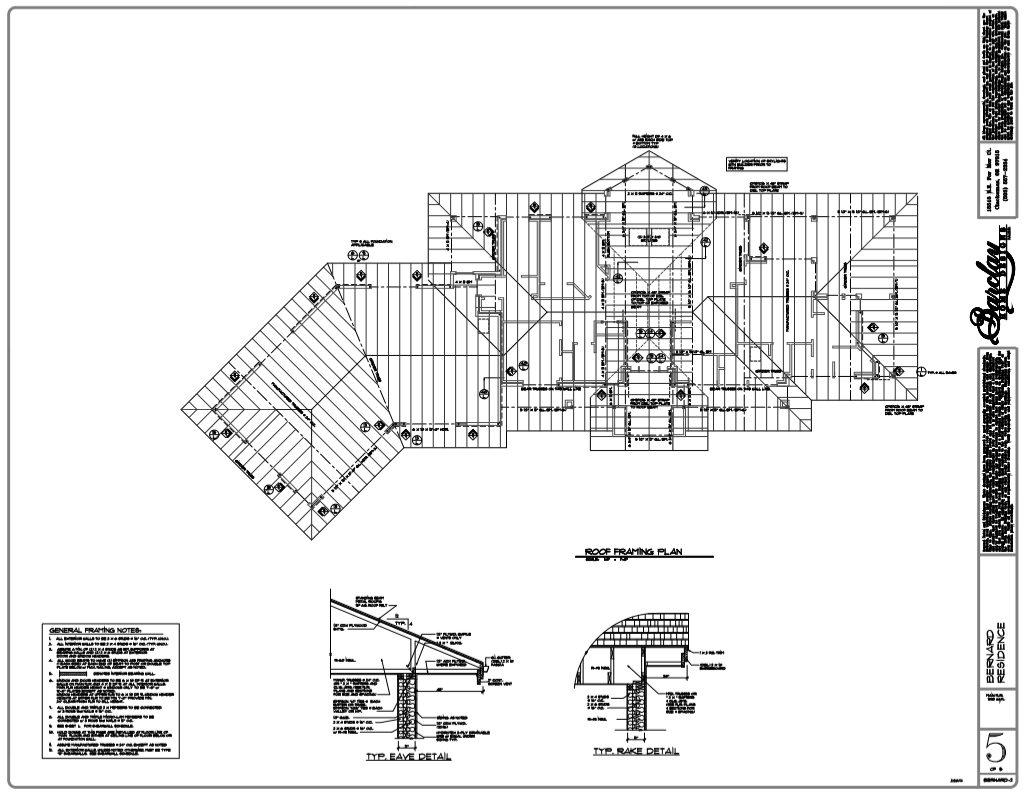 Rick Bernard Cottage in the Woods - Home Plans - roof framing.