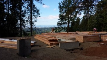 New Cottage in the Woods - Framing the house (10)