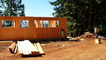 New Cottage in the Woods - Framing the house (11)