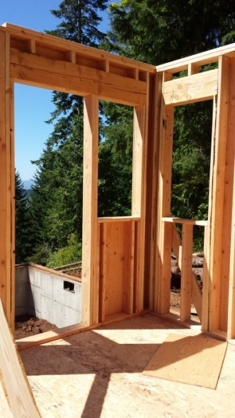 New Cottage in the Woods - Framing the house (17)
