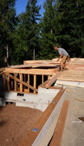 New Cottage in the Woods - Framing the house (26)