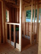 Cottage in the Woods - Master Bath Shower Frame