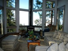 Living Room to wood stove and view - New Cottage in the Woods with Rick Bernard.