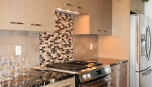 Kitchen Stove and Cabinets - New Cottage in the Woods with Rick Bernard