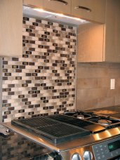 Tile Work over Stove in Kitchen - New Cottage in the Woods with Rick Bernard